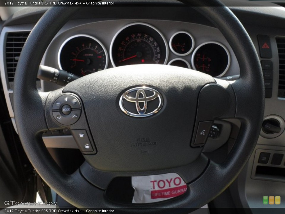 Graphite Interior Steering Wheel for the 2012 Toyota Tundra SR5 TRD CrewMax 4x4 #54421713