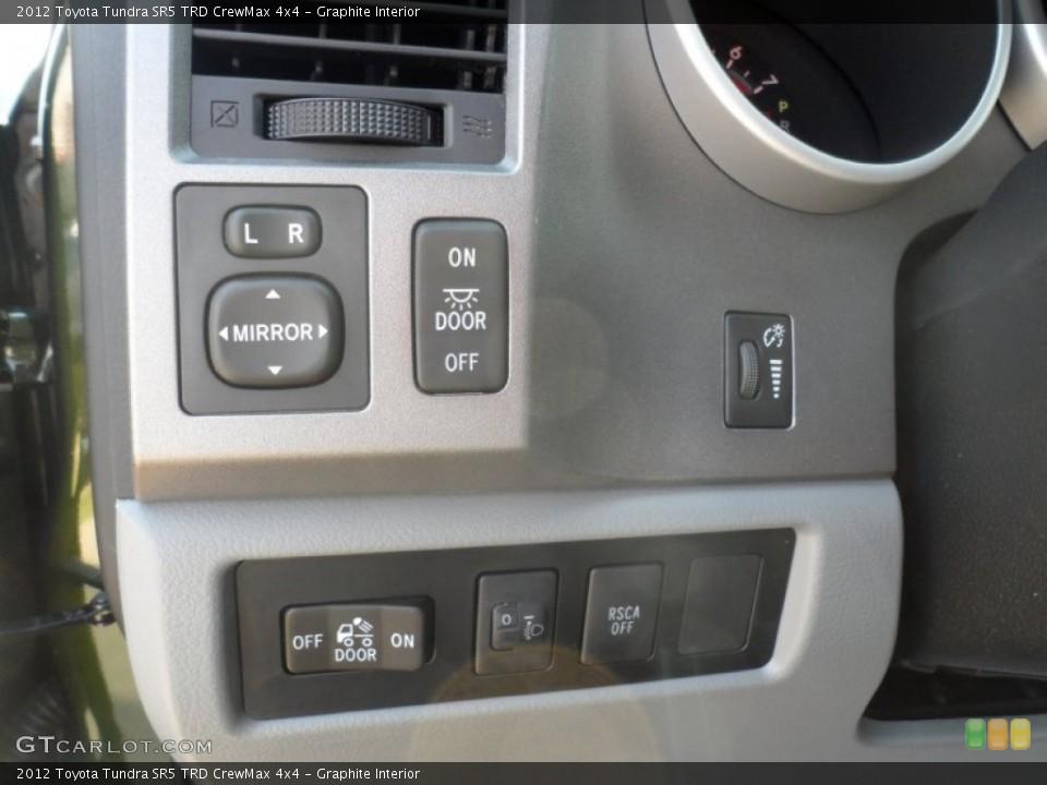 Graphite Interior Controls for the 2012 Toyota Tundra SR5 TRD CrewMax 4x4 #54421728