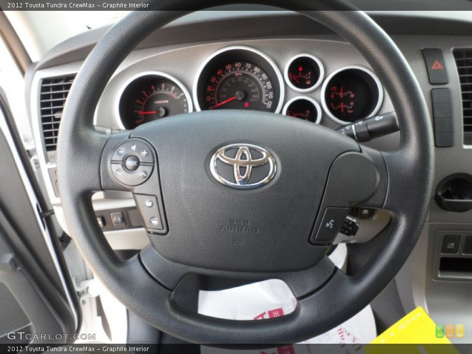 Graphite Interior Steering Wheel for the 2012 Toyota Tundra CrewMax #54422028