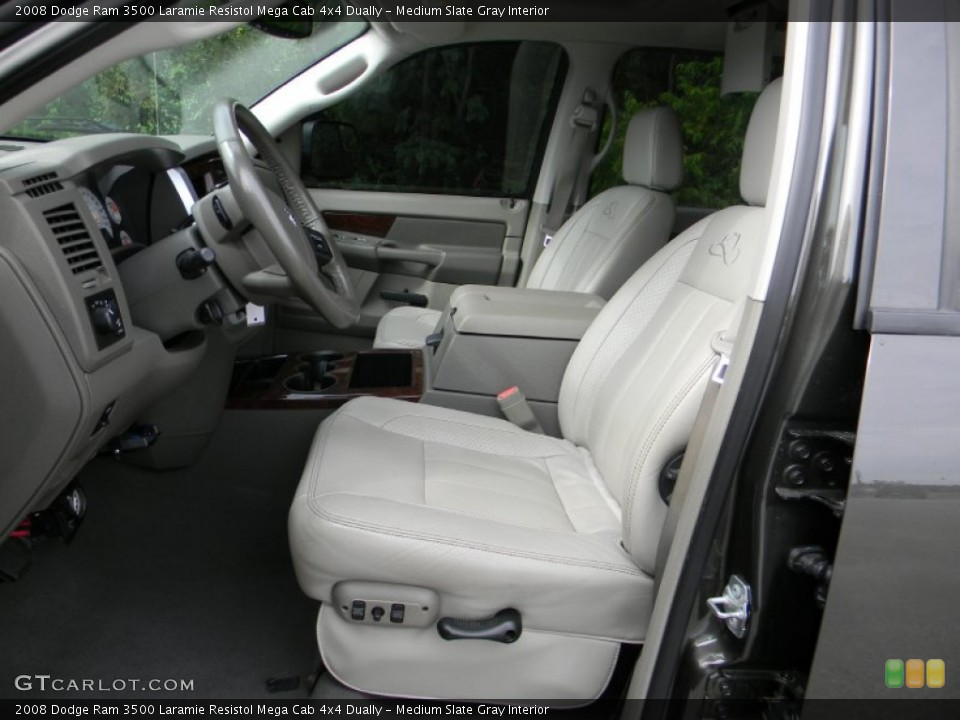 Medium Slate Gray Interior Photo for the 2008 Dodge Ram 3500 Laramie Resistol Mega Cab 4x4 Dually #54443772