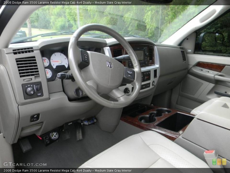 Medium Slate Gray Interior Dashboard for the 2008 Dodge Ram 3500 Laramie Resistol Mega Cab 4x4 Dually #54443782