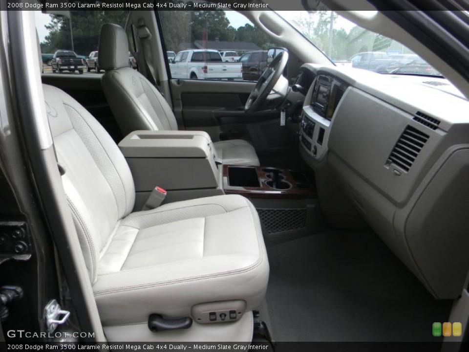 Medium Slate Gray Interior Photo for the 2008 Dodge Ram 3500 Laramie Resistol Mega Cab 4x4 Dually #54443811