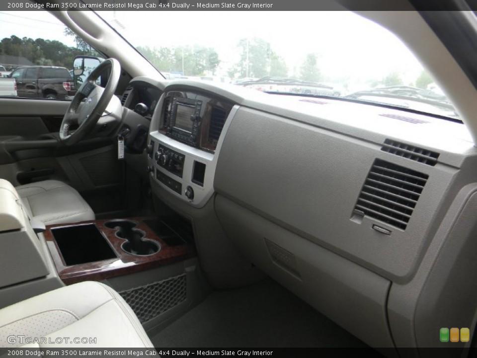 Medium Slate Gray Interior Dashboard for the 2008 Dodge Ram 3500 Laramie Resistol Mega Cab 4x4 Dually #54443820