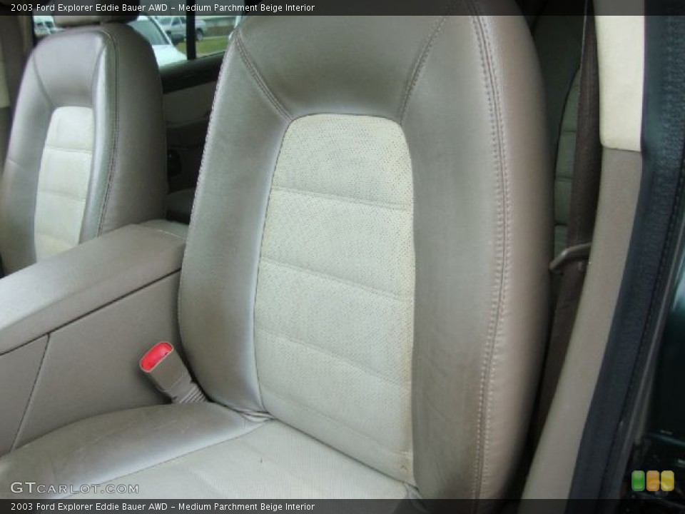 Medium Parchment Beige Interior Photo for the 2003 Ford Explorer Eddie Bauer AWD #54454549