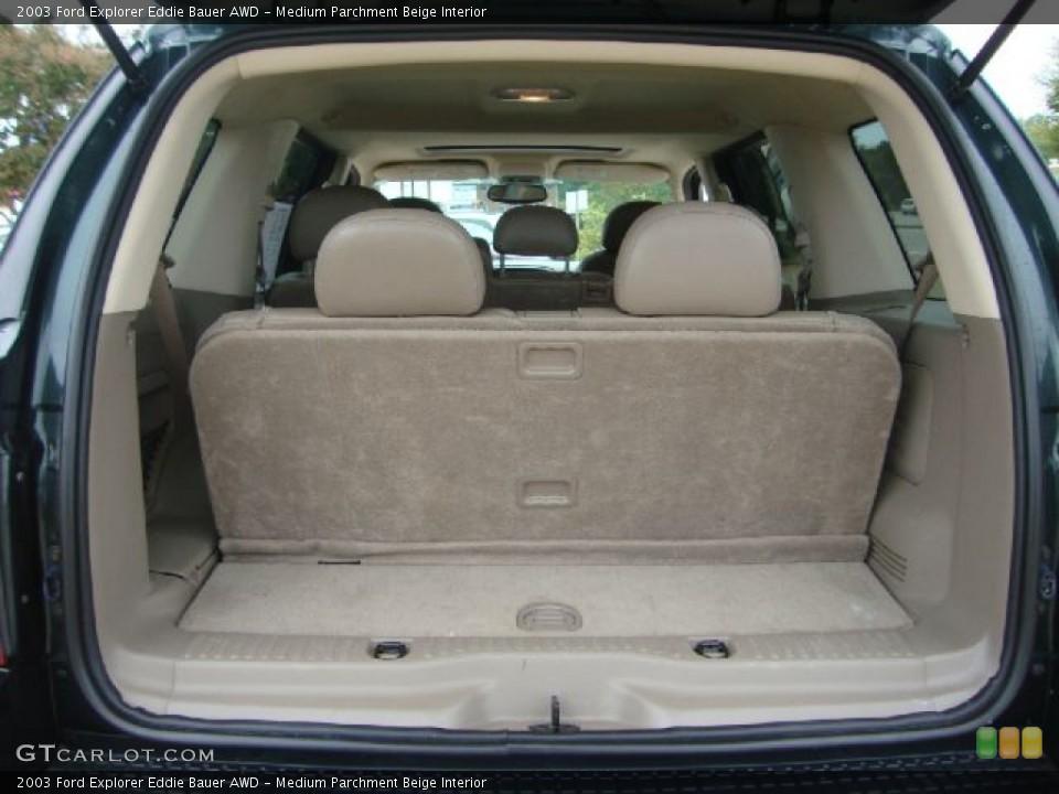 Medium Parchment Beige Interior Trunk for the 2003 Ford Explorer Eddie Bauer AWD #54454599