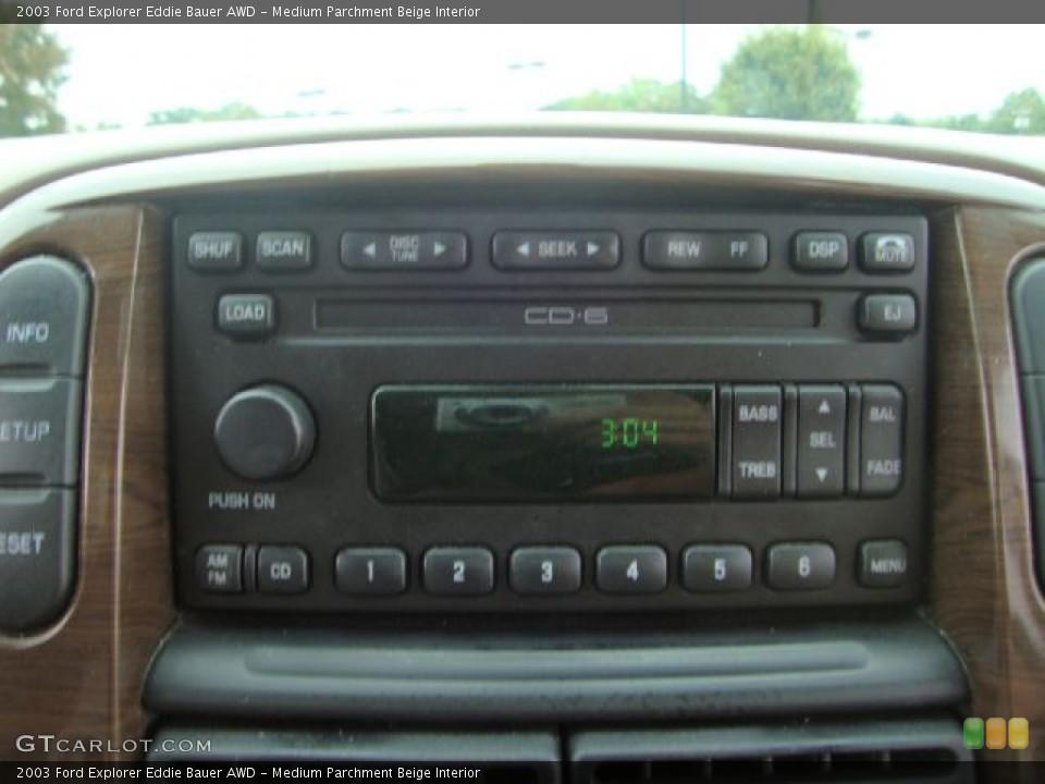 Medium Parchment Beige Interior Audio System for the 2003 Ford Explorer Eddie Bauer AWD #54454687