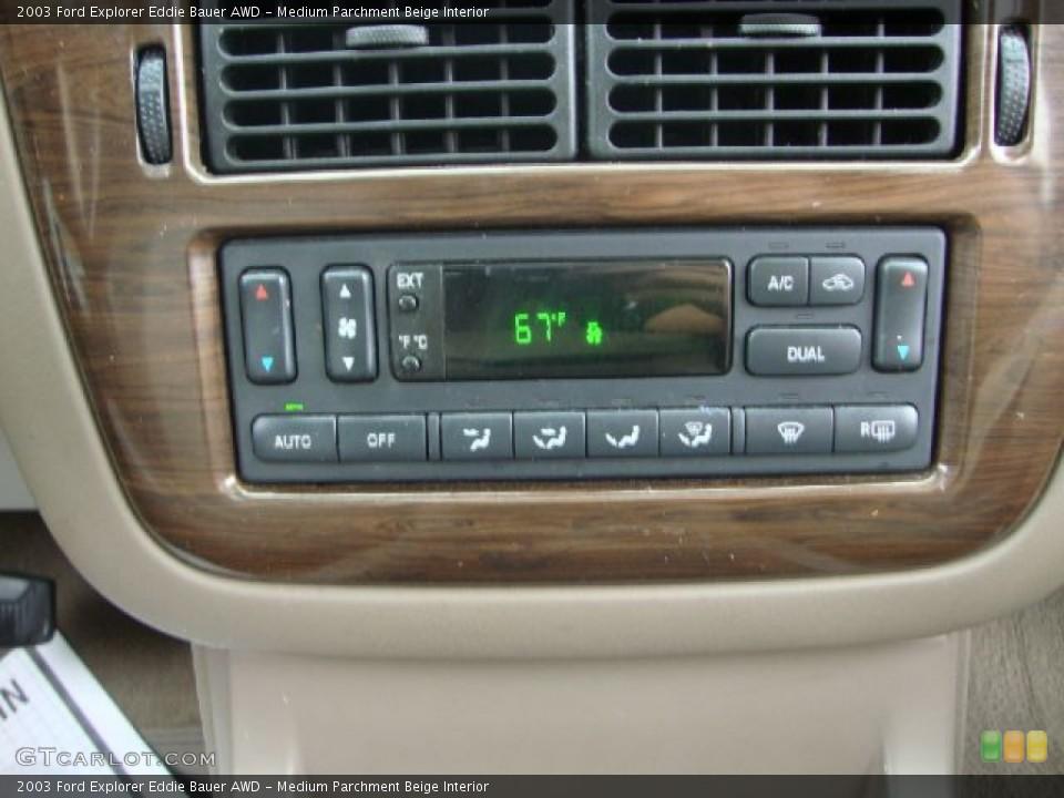 Medium Parchment Beige Interior Controls for the 2003 Ford Explorer Eddie Bauer AWD #54454696