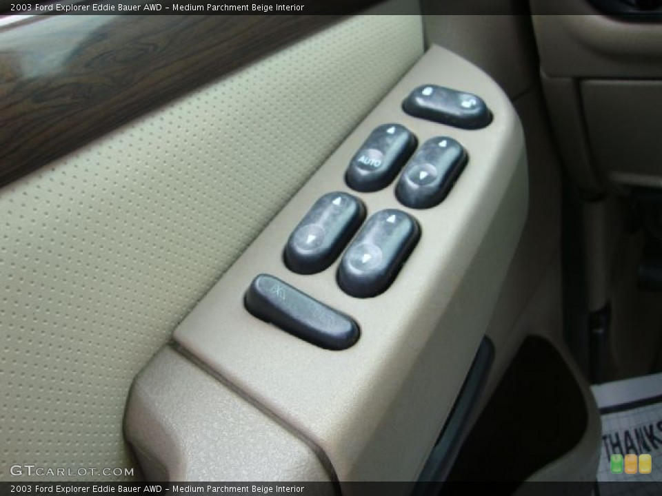 Medium Parchment Beige Interior Controls for the 2003 Ford Explorer Eddie Bauer AWD #54454731