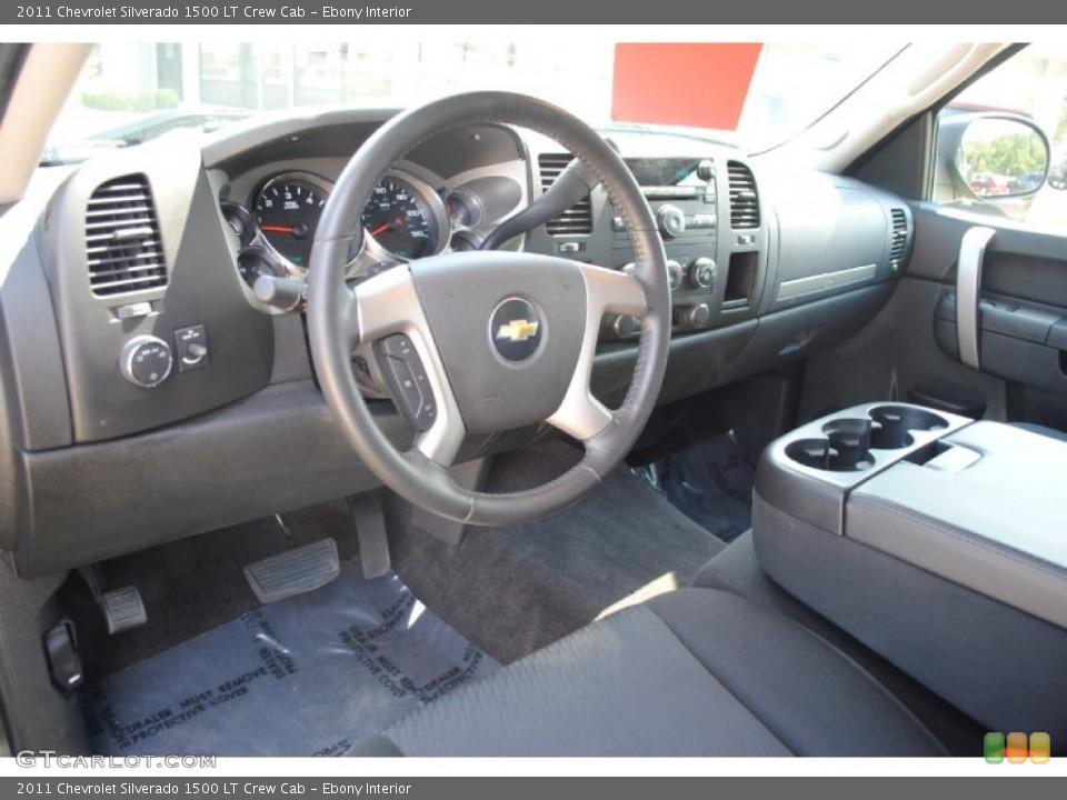 Ebony Interior Prime Interior for the 2011 Chevrolet Silverado 1500 LT Crew Cab #54490820