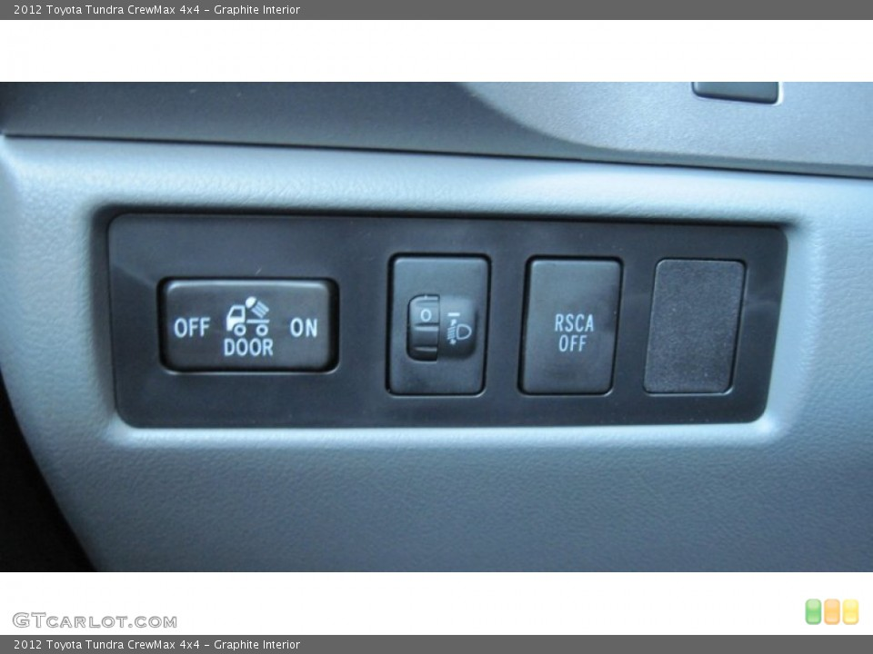Graphite Interior Controls for the 2012 Toyota Tundra CrewMax 4x4 #54603596