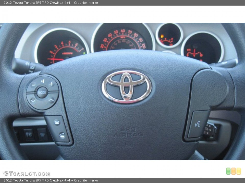 Graphite Interior Steering Wheel for the 2012 Toyota Tundra SR5 TRD CrewMax 4x4 #54603815
