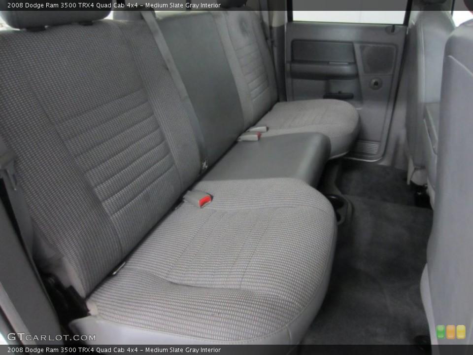 Medium Slate Gray Interior Photo for the 2008 Dodge Ram 3500 TRX4 Quad Cab 4x4 #54660480