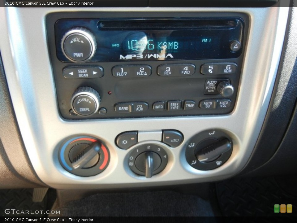 Ebony Interior Audio System for the 2010 GMC Canyon SLE Crew Cab #54827491