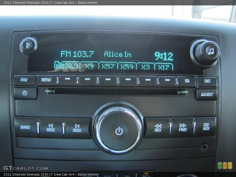 Ebony Interior Audio System for the 2011 Chevrolet Silverado 1500 LT Crew Cab 4x4 #54847408