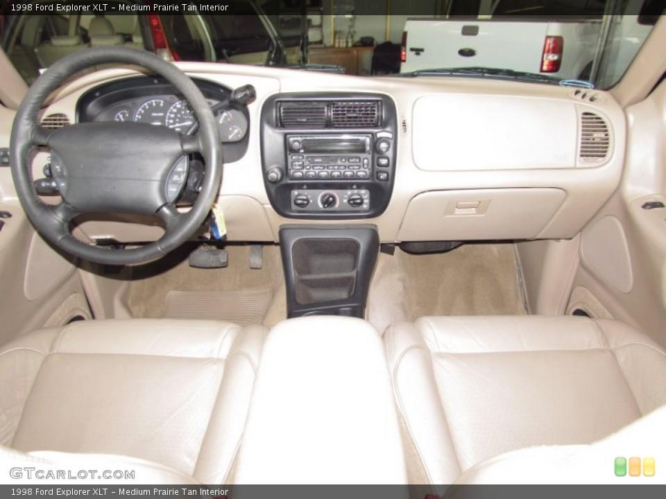 Medium Prairie Tan Interior Dashboard for the 1998 Ford Explorer XLT #54973717