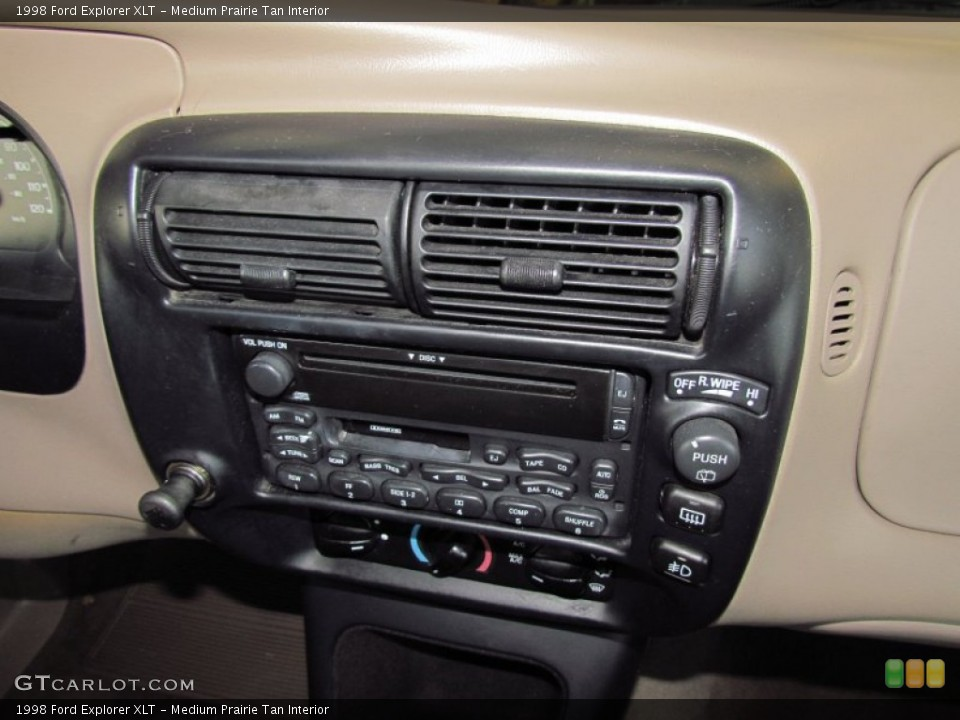 Medium Prairie Tan Interior Controls for the 1998 Ford Explorer XLT #54973738