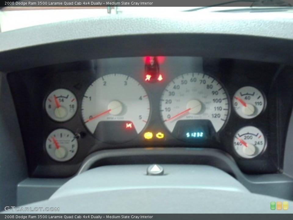 Medium Slate Gray Interior Gauges for the 2008 Dodge Ram 3500 Laramie Quad Cab 4x4 Dually #54983074