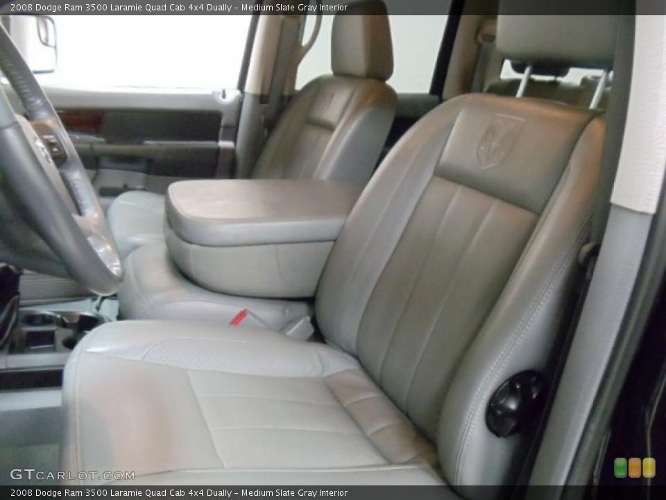 Medium Slate Gray Interior Photo for the 2008 Dodge Ram 3500 Laramie Quad Cab 4x4 Dually #54983113
