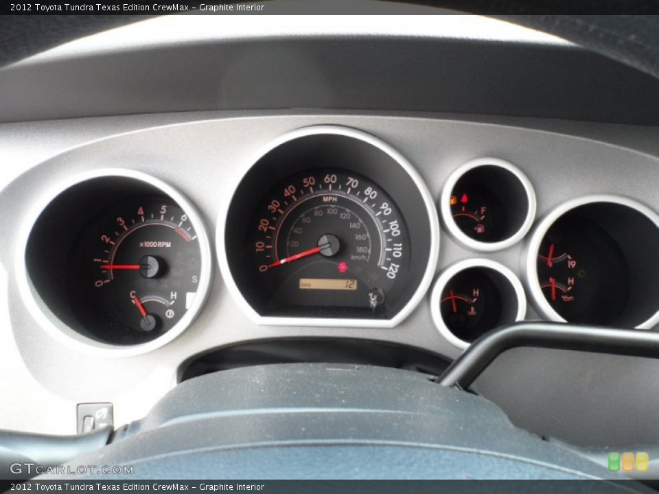 Graphite Interior Gauges for the 2012 Toyota Tundra Texas Edition CrewMax #55006147