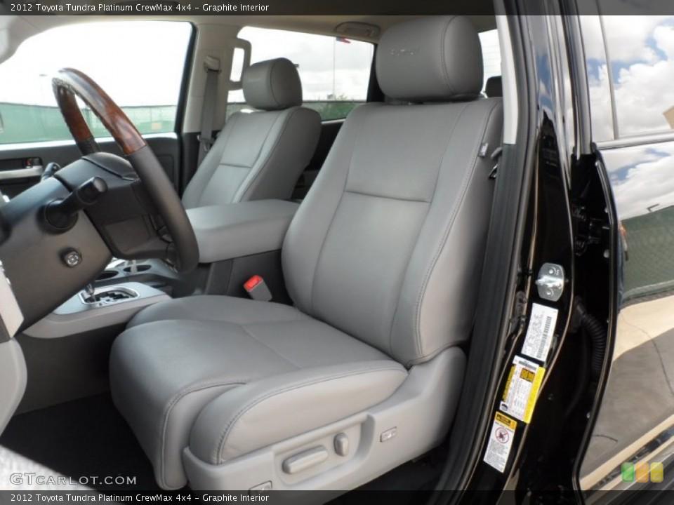 Graphite Interior Photo for the 2012 Toyota Tundra Platinum CrewMax 4x4 #55060005