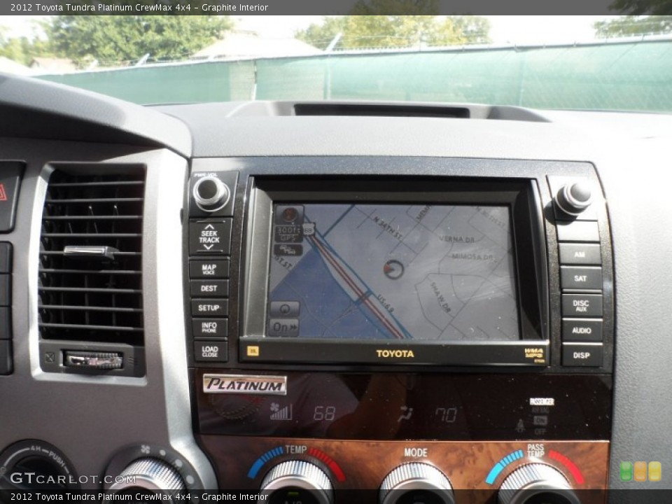 Graphite Interior Navigation for the 2012 Toyota Tundra Platinum CrewMax 4x4 #55060047