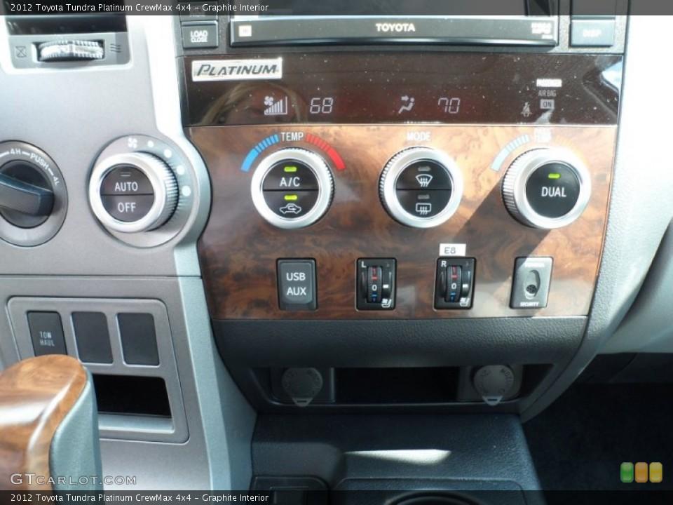 Graphite Interior Controls for the 2012 Toyota Tundra Platinum CrewMax 4x4 #55060056