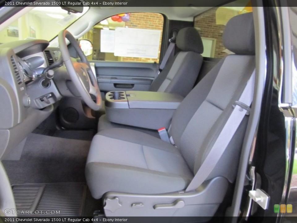 Ebony Interior Photo for the 2011 Chevrolet Silverado 1500 LT Regular Cab 4x4 #55151522