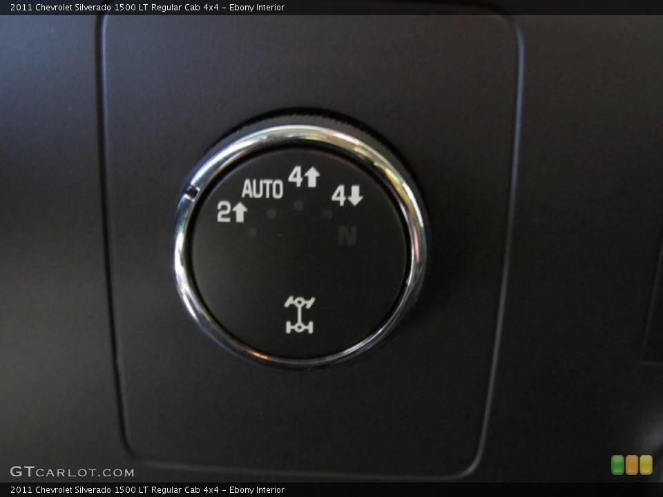 Ebony Interior Controls for the 2011 Chevrolet Silverado 1500 LT Regular Cab 4x4 #55151549