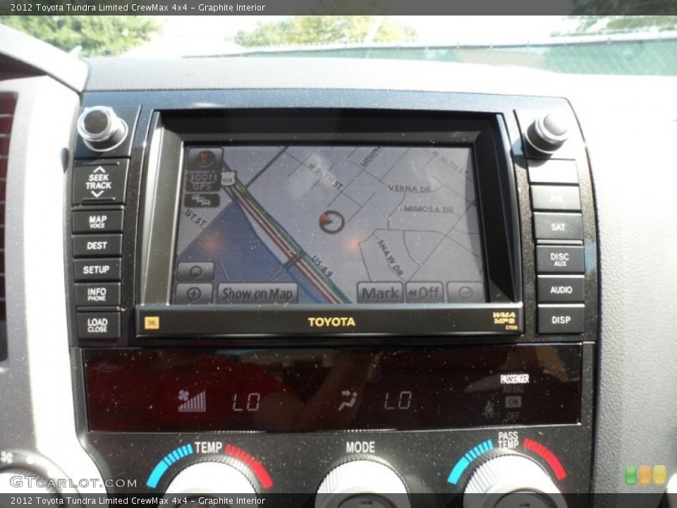 Graphite Interior Navigation for the 2012 Toyota Tundra Limited CrewMax 4x4 #55183182
