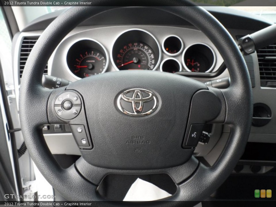 Graphite Interior Steering Wheel for the 2012 Toyota Tundra Double Cab #55219858