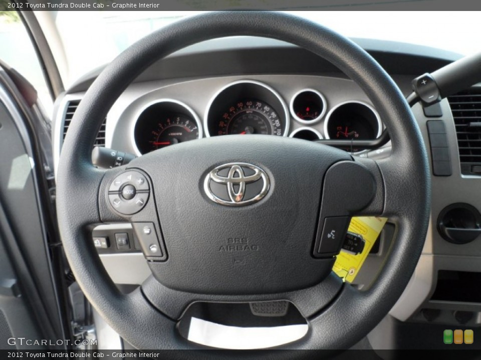 Graphite Interior Steering Wheel for the 2012 Toyota Tundra Double Cab #55220137