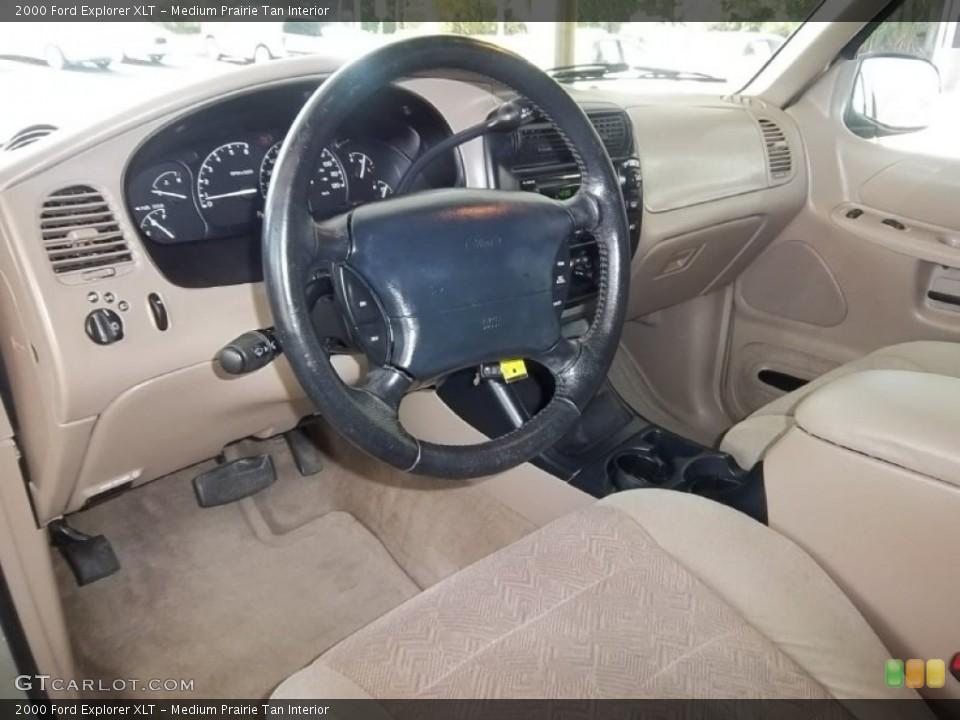 Medium Prairie Tan Interior Prime Interior for the 2000 Ford Explorer XLT #55301542