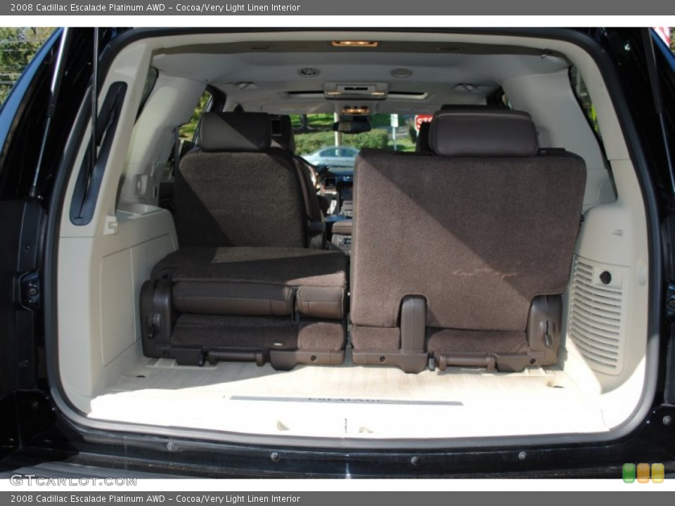 Cocoa/Very Light Linen Interior Trunk for the 2008 Cadillac Escalade Platinum AWD #55384498