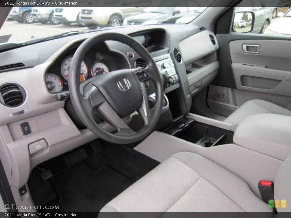 Gray Interior Prime Interior for the 2011 Honda Pilot LX 4WD #55395803