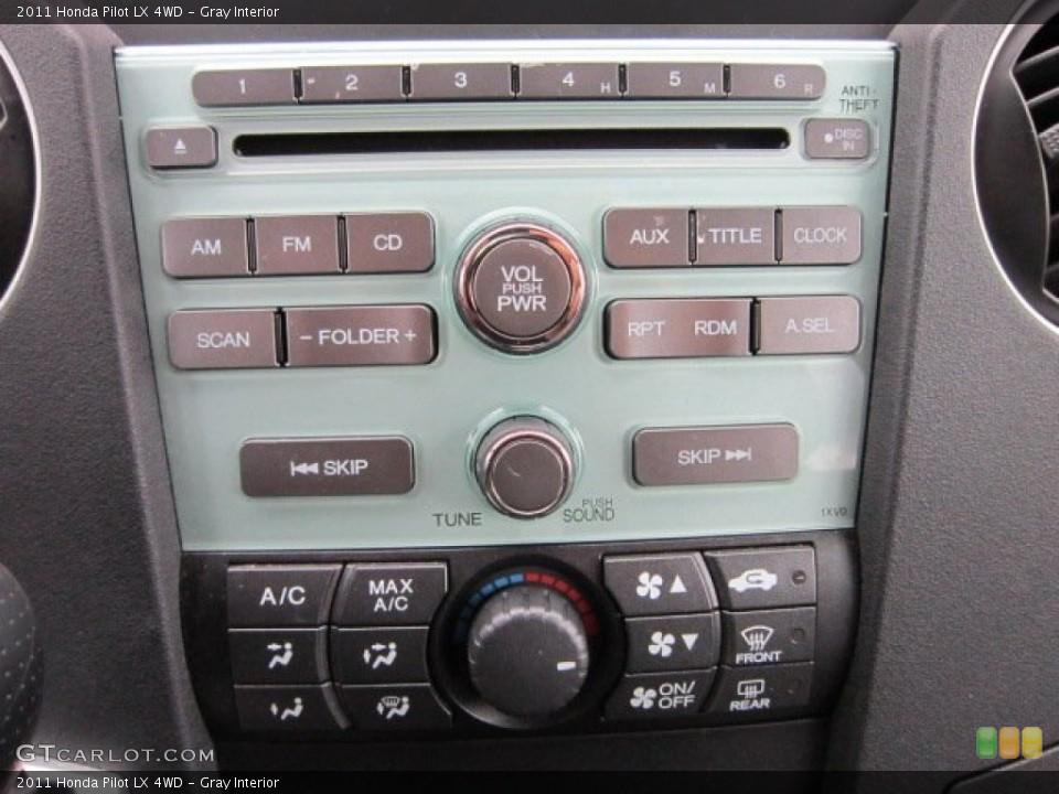 Gray Interior Controls for the 2011 Honda Pilot LX 4WD #55395830