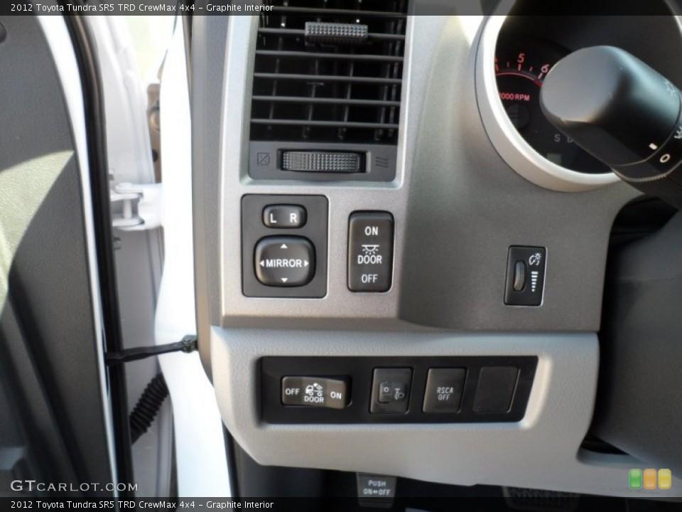 Graphite Interior Controls for the 2012 Toyota Tundra SR5 TRD CrewMax 4x4 #55445053