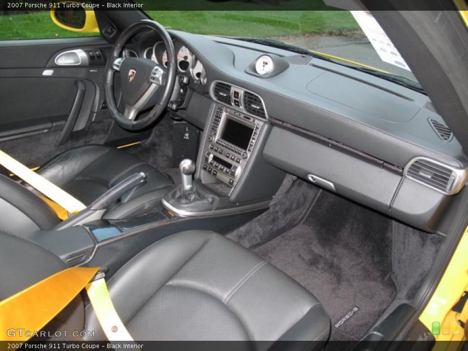 Black Interior Dashboard for the 2007 Porsche 911 Turbo Coupe #55510844