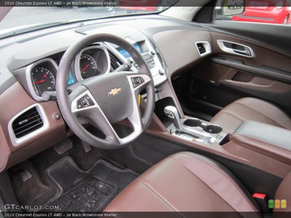 Jet Black/Brownstone 2010 Chevrolet Equinox Interiors
