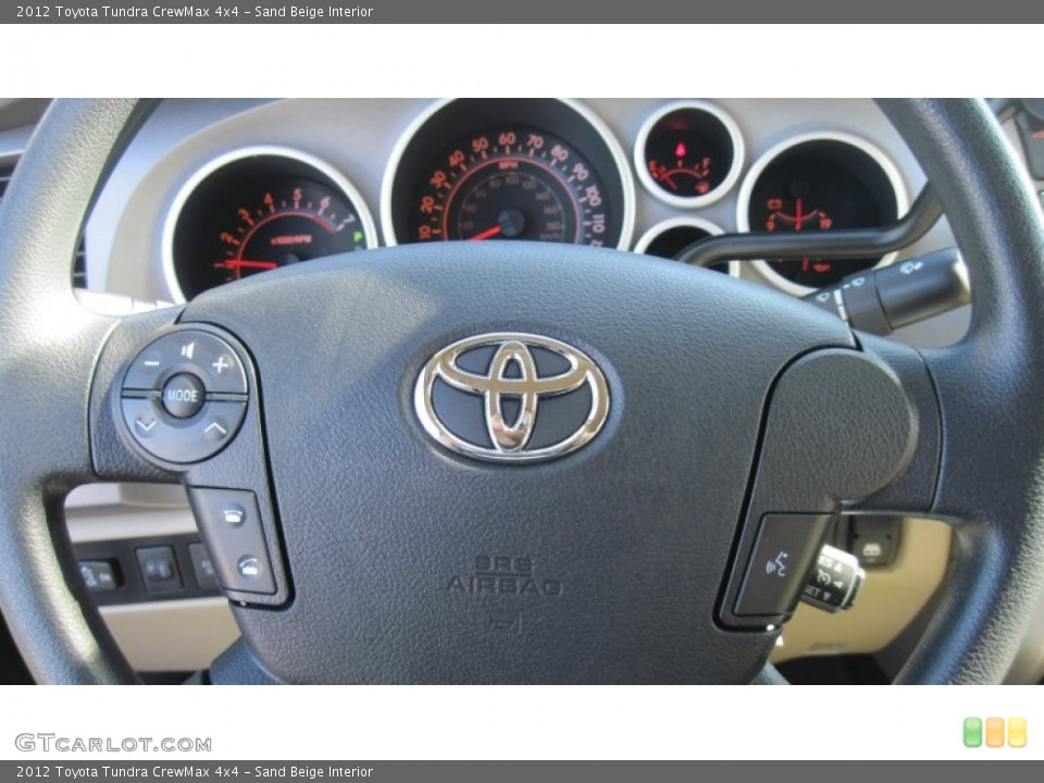 Sand Beige Interior Steering Wheel for the 2012 Toyota Tundra CrewMax 4x4 #55551246