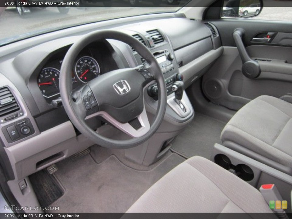Gray 2009 Honda CR-V Interiors