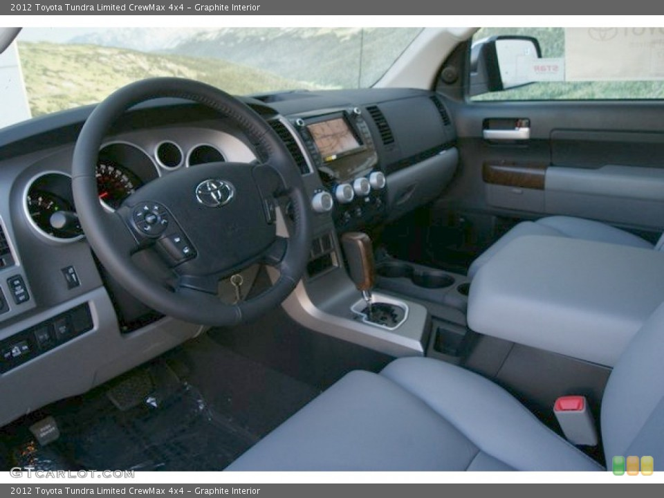 Graphite Interior Photo for the 2012 Toyota Tundra Limited CrewMax 4x4 #55566003