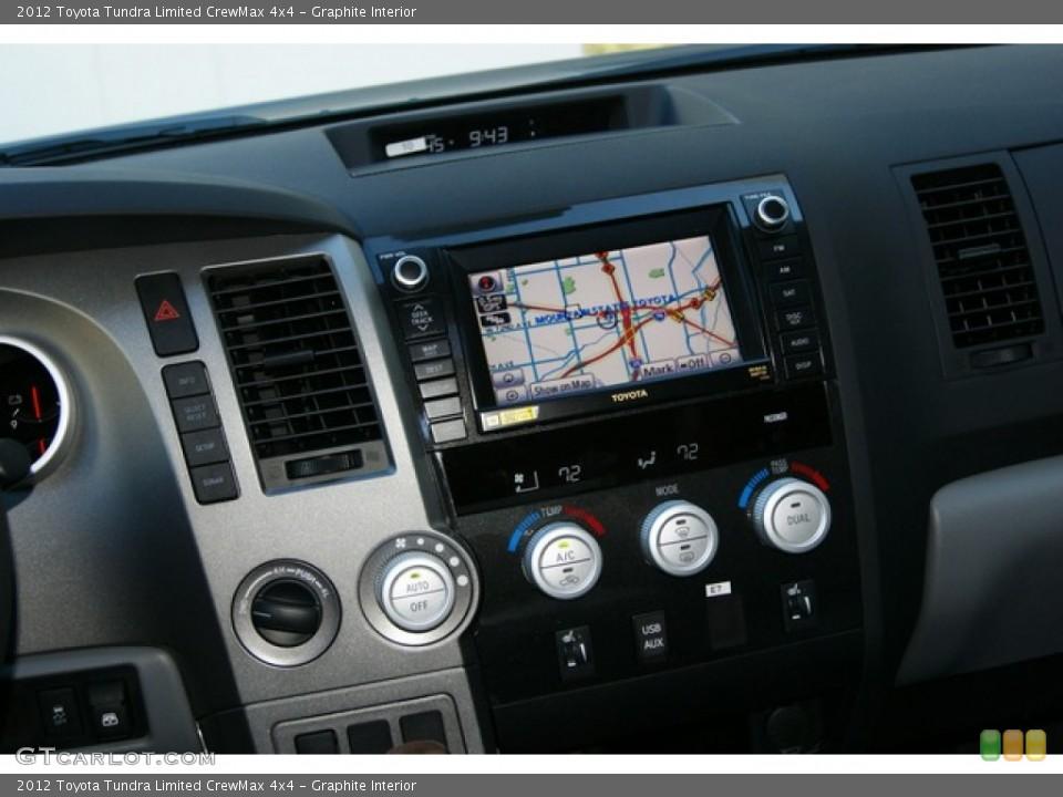 Graphite Interior Controls for the 2012 Toyota Tundra Limited CrewMax 4x4 #55566075