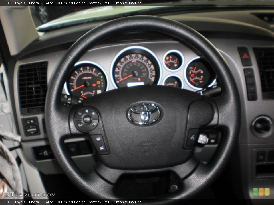 Graphite Interior Steering Wheel for the 2012 Toyota Tundra T-Force 2.0 Limited Edition CrewMax 4x4 #55601989