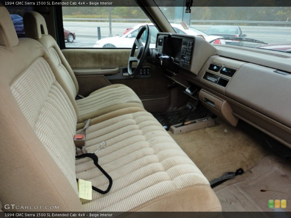 Beige Interior Photo For The 1994 Gmc Sierra 1500 Sl Extended Cab 4x4 55615372 Gtcarlot Com