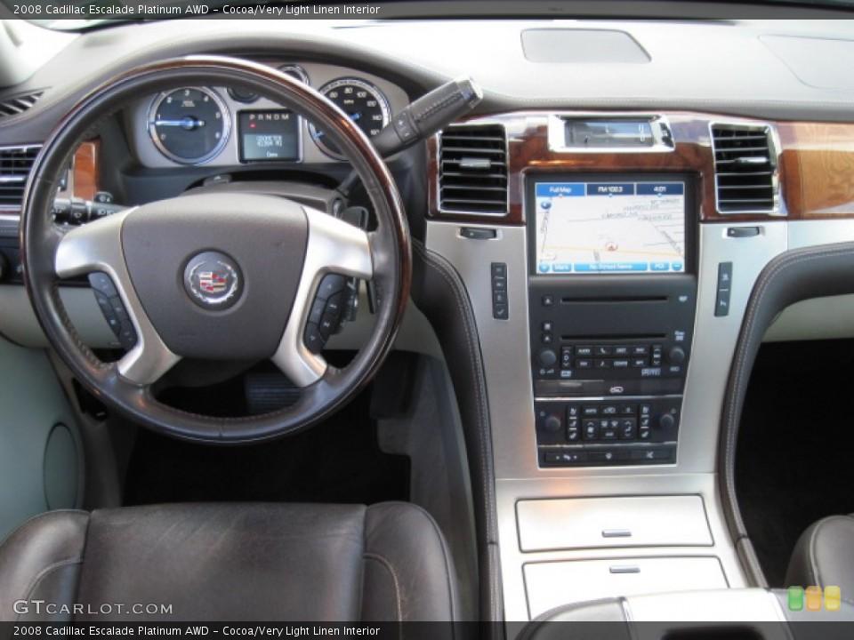 Cocoa/Very Light Linen Interior Dashboard for the 2008 Cadillac Escalade Platinum AWD #55620072