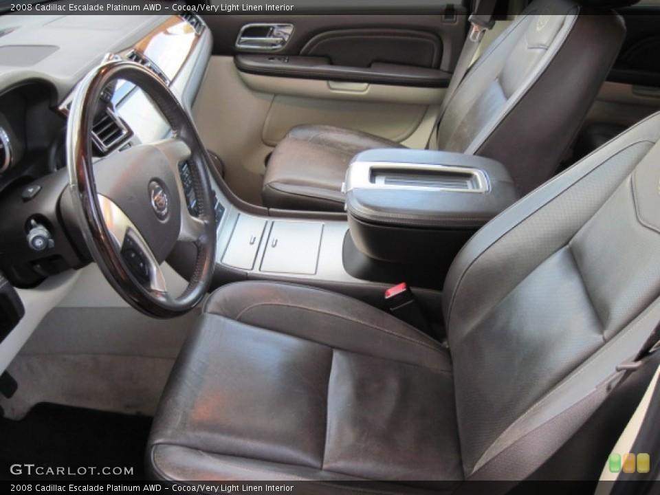 Cocoa/Very Light Linen Interior Photo for the 2008 Cadillac Escalade Platinum AWD #55620082