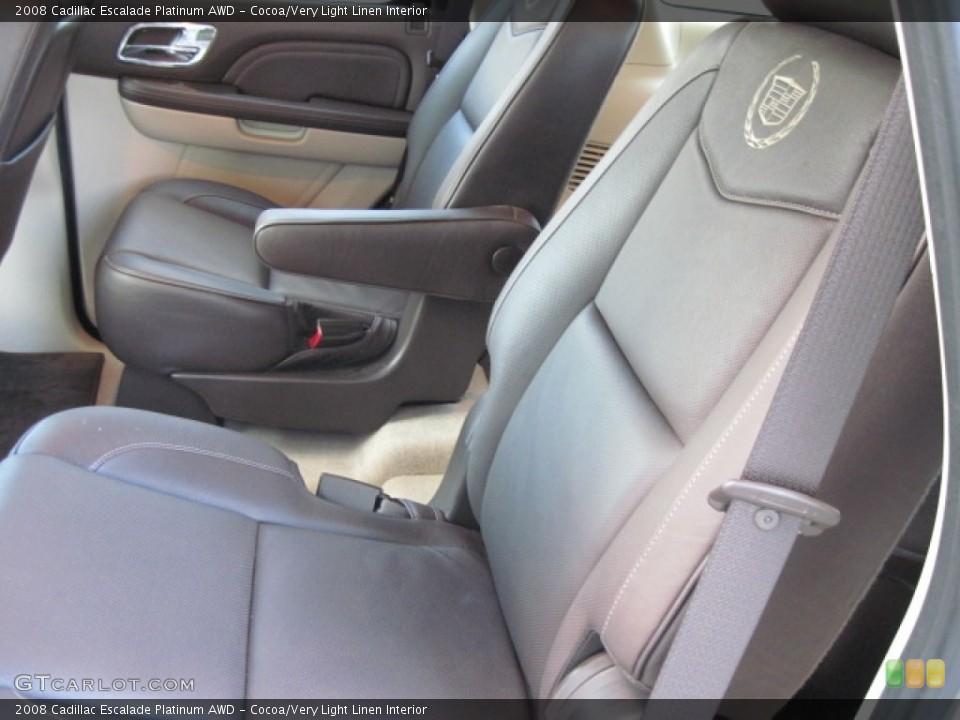 Cocoa/Very Light Linen Interior Photo for the 2008 Cadillac Escalade Platinum AWD #55620090