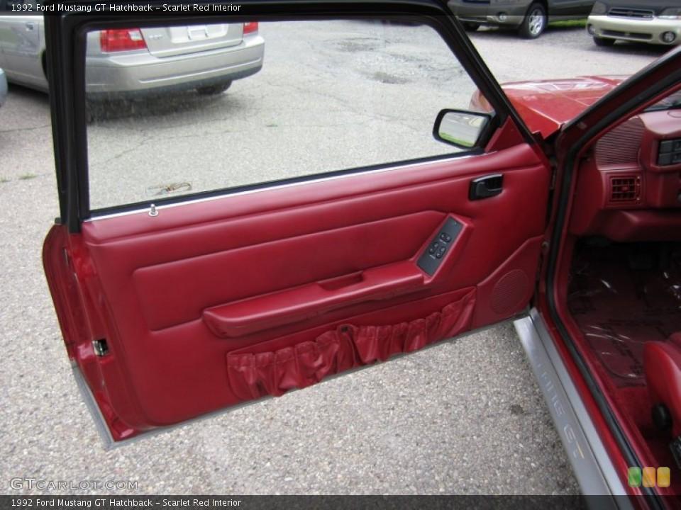 Scarlet Red Interior Door Panel for the 1992 Ford Mustang GT Hatchback #55673950
