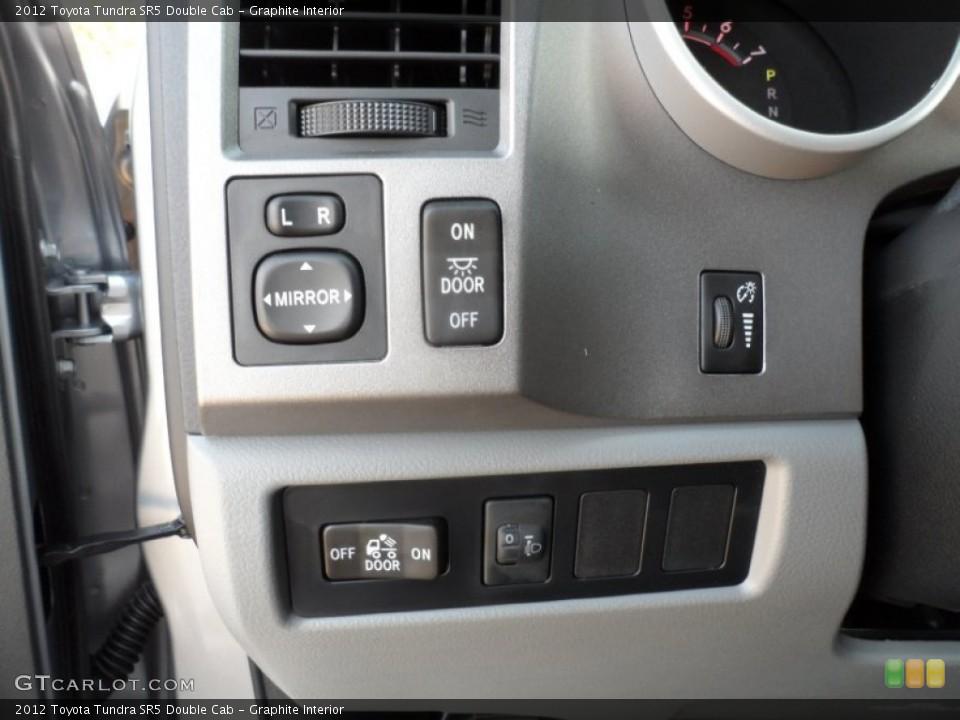 Graphite Interior Controls for the 2012 Toyota Tundra SR5 Double Cab #55738149