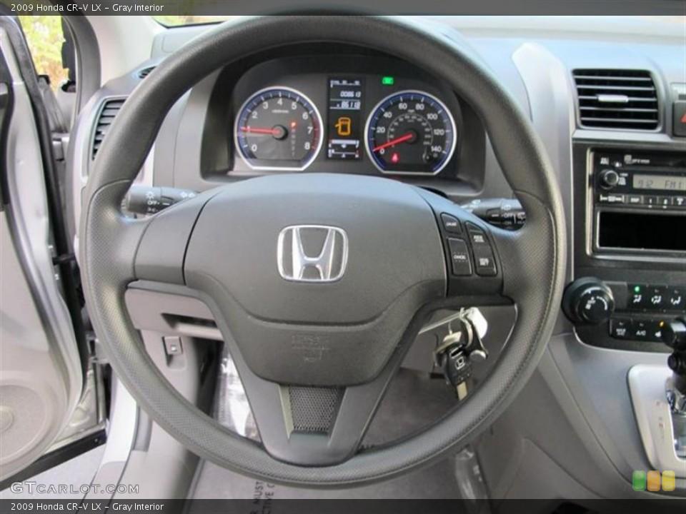Gray Interior Steering Wheel for the 2009 Honda CR-V LX #55838893